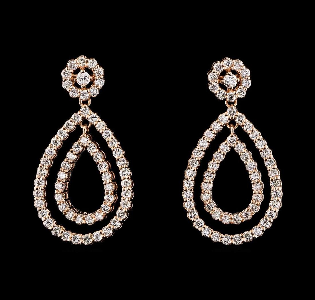 1.51 ctw Diamond Earrings - 14KT Rose Gold