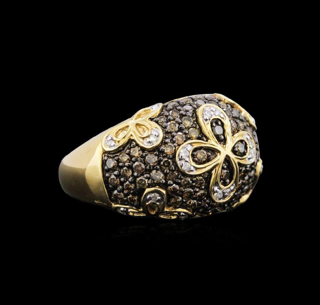 14KT Yellow Gold 1.09 ctw Brown Diamond Ring