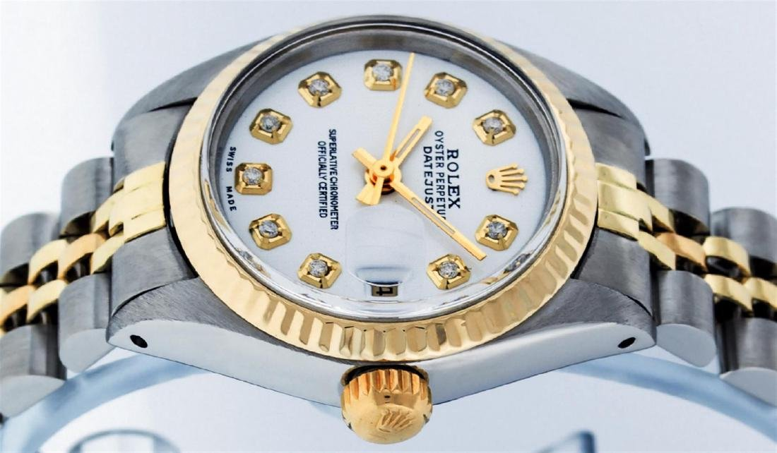 Rolex Ladies Two Tone Mother Of Pearl Diamond Datejust - 4