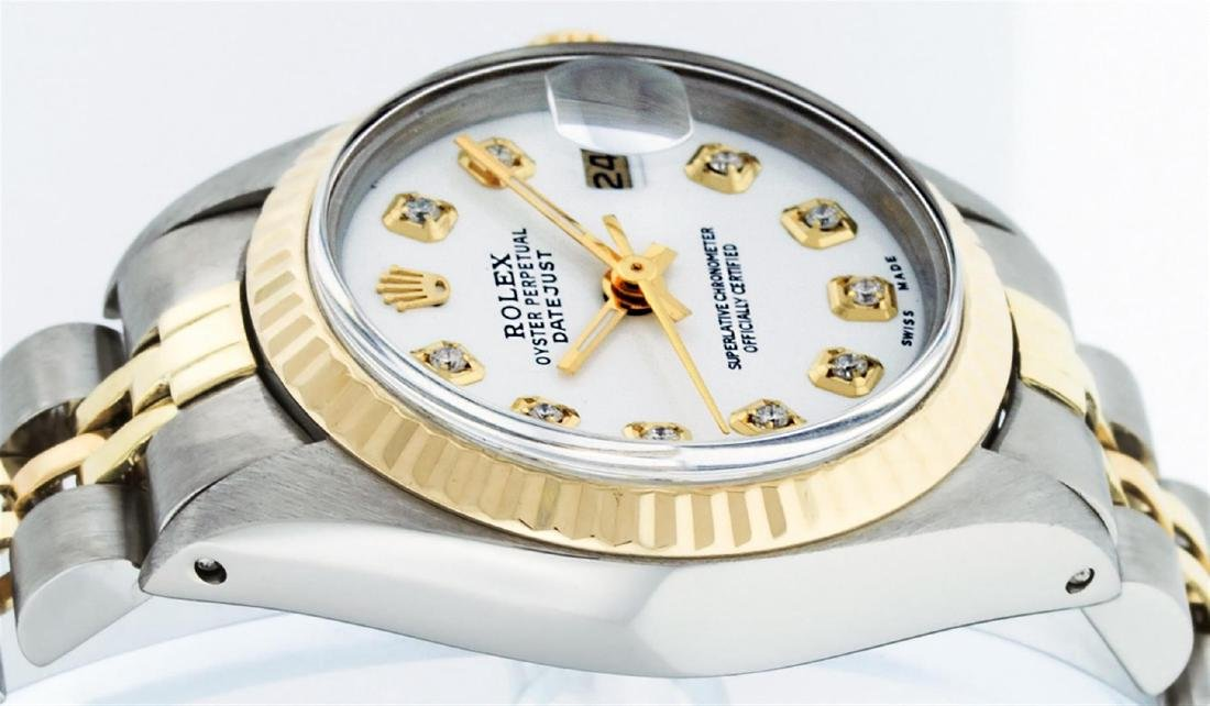 Rolex Ladies Two Tone Mother Of Pearl Diamond Datejust - 6