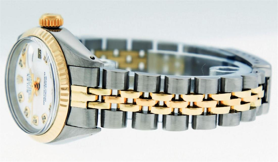 Rolex Ladies Two Tone Mother Of Pearl Diamond Datejust - 8