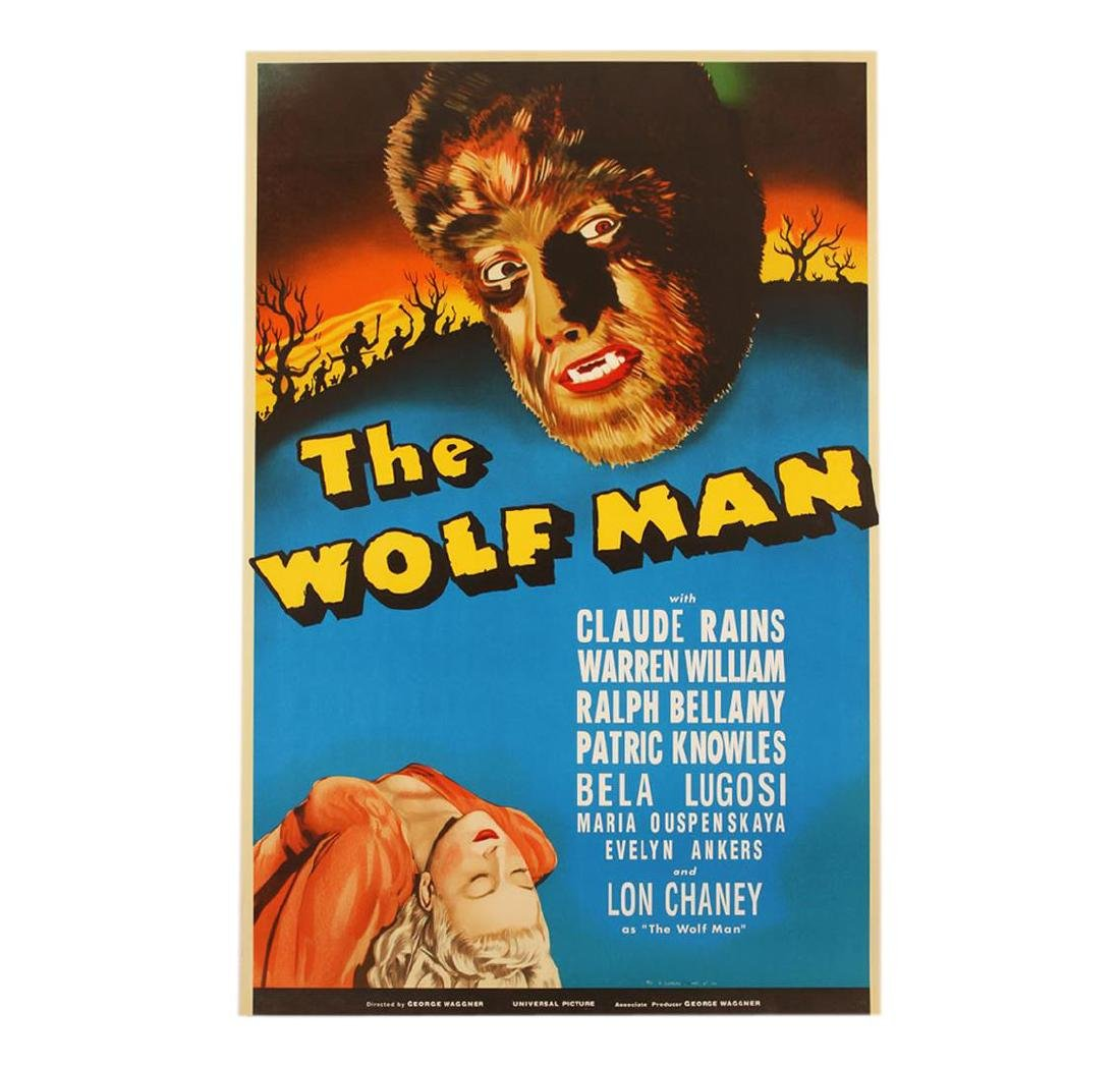 The Wolfman 1941 Vintage Hand Pulled Lithograph Movie