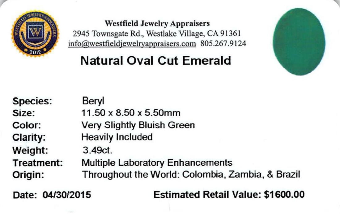 3.49 ctw Oval Emerald Parcel - 2