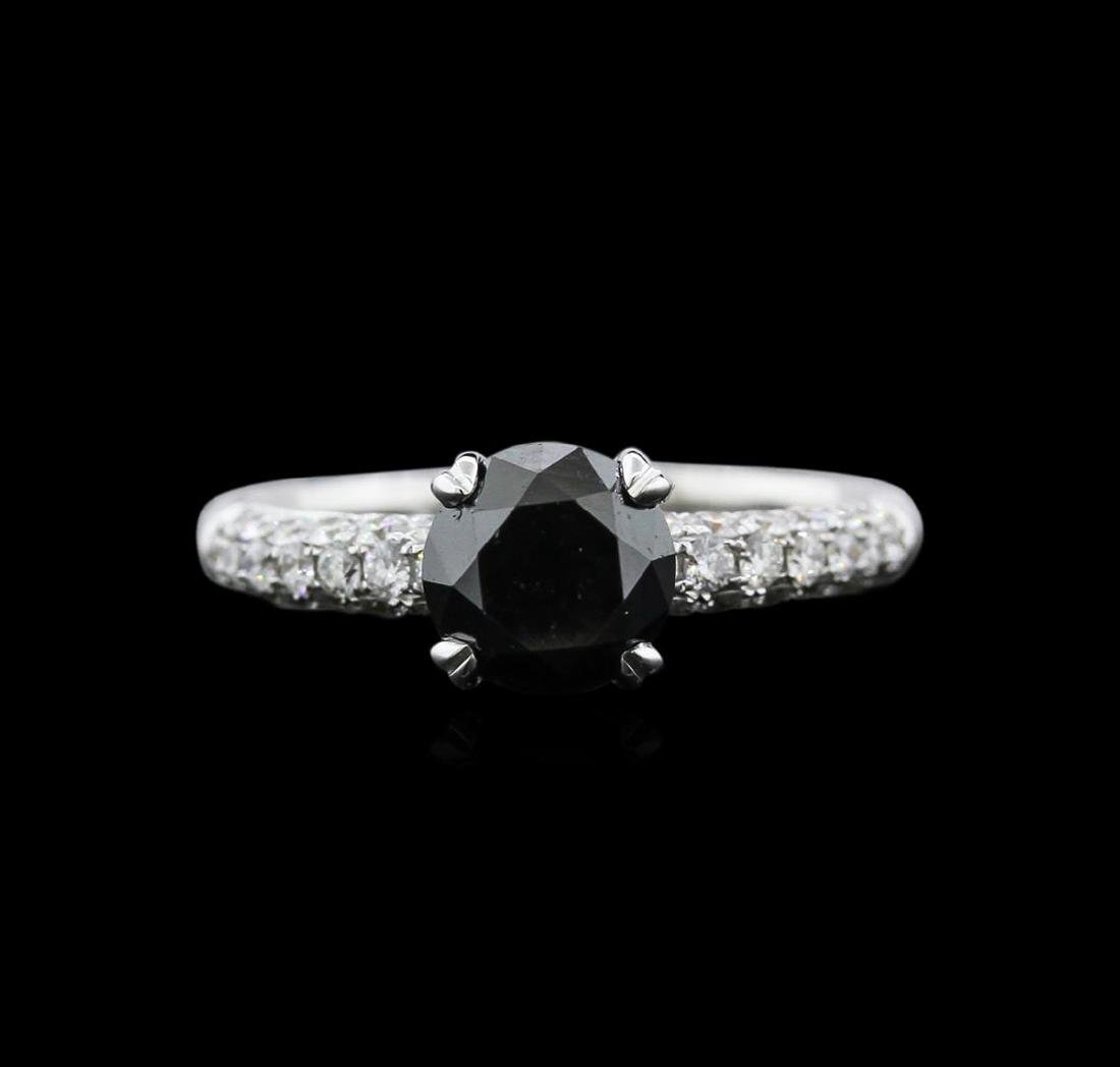 1.97 ctw Black Diamond Ring - 18KT White Gold - 2