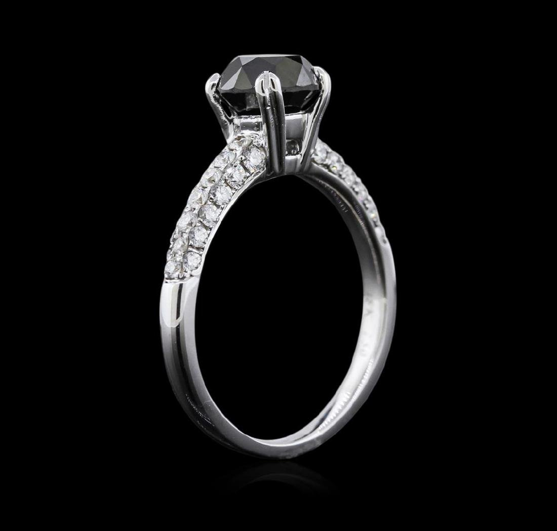 1.97 ctw Black Diamond Ring - 18KT White Gold - 3