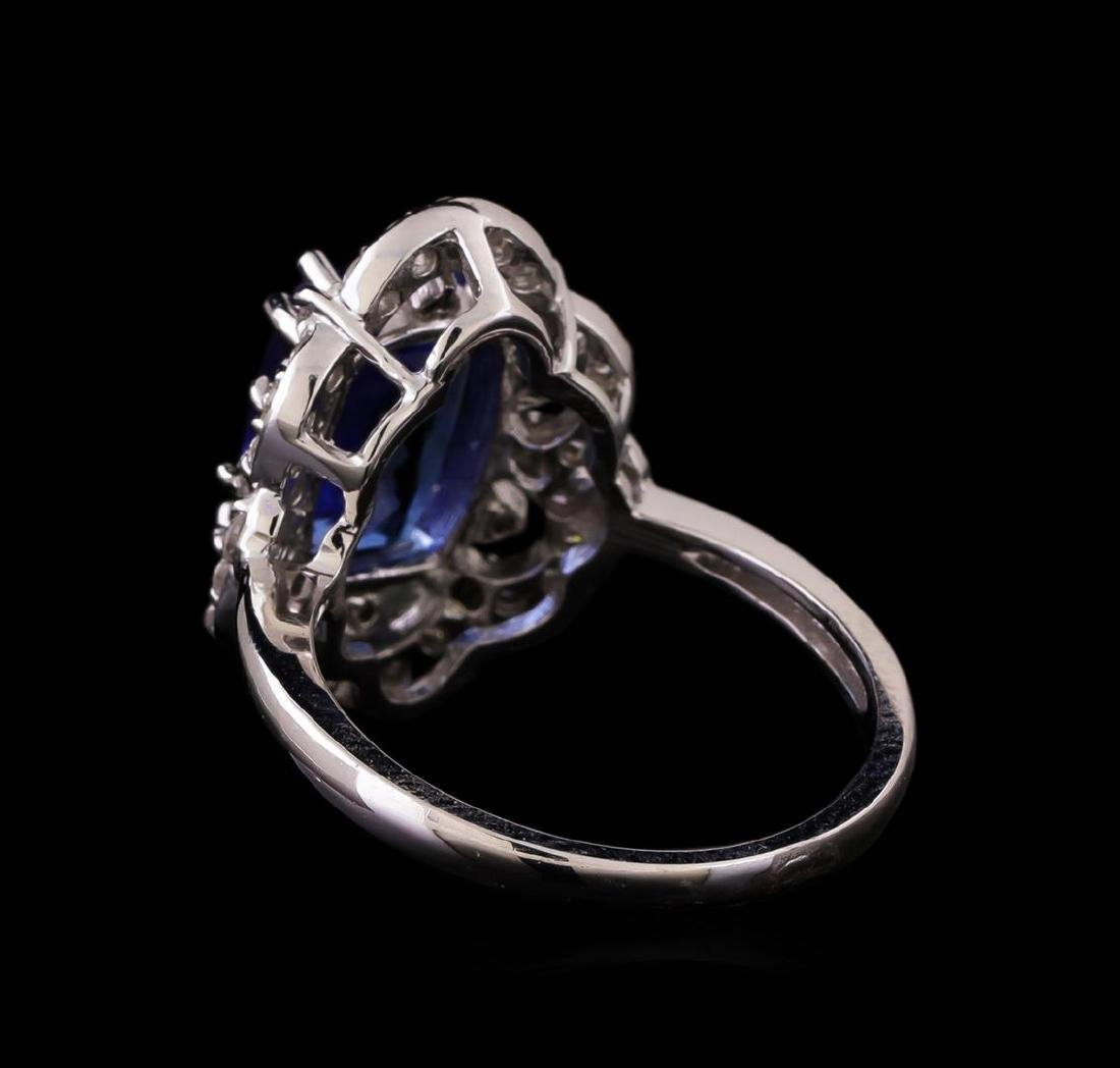 14KT White Gold 3.20 ctw Tanzanite and Diamond Ring - 3