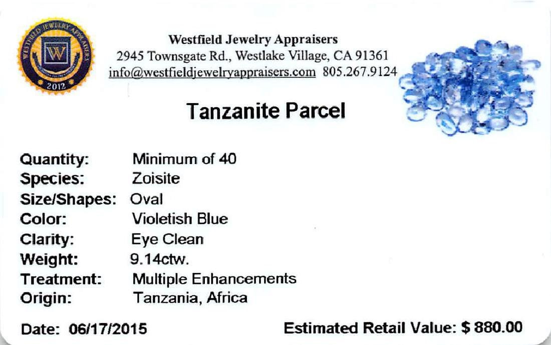 9.14 ctw Oval Mixed Tanzanite Parcel - 2