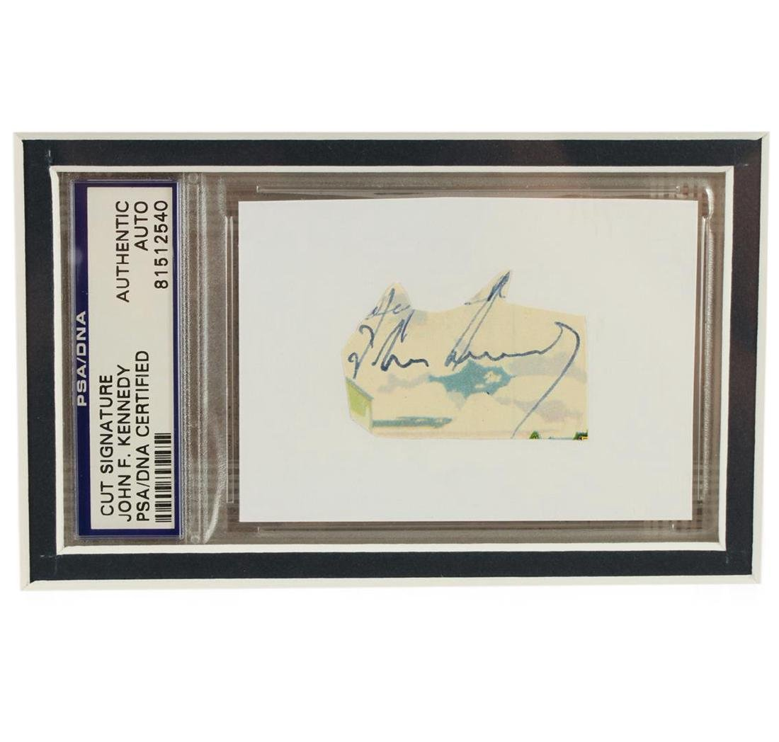 John F. Kennedy Signed Cut Display PSA Certified - 2
