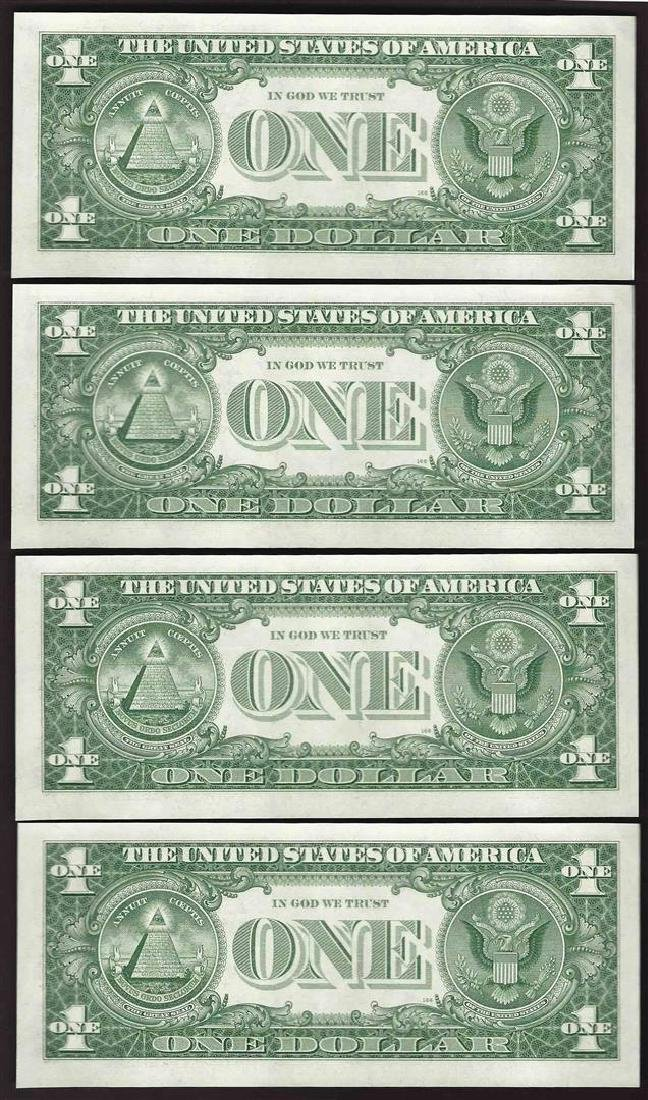 Lot of (4) Consecutive 1957 $1 Silver Certificate Notes - 2