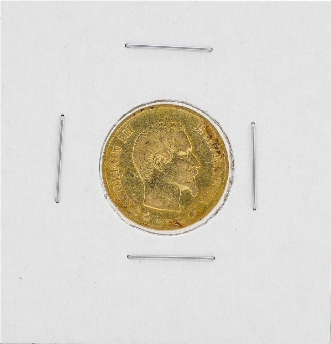 1859 France 10 Francs Gold Coin