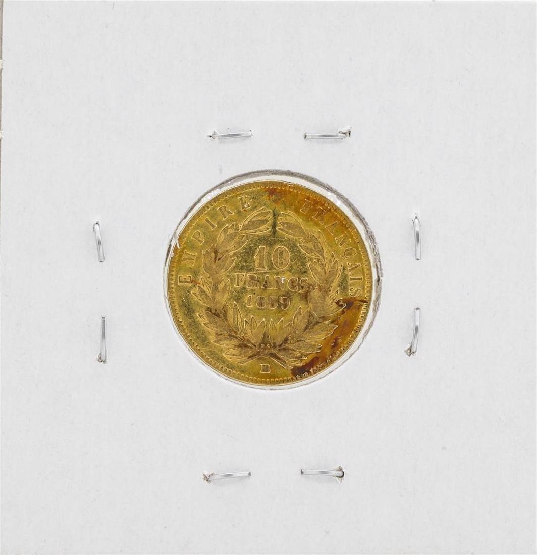 1859 France 10 Francs Gold Coin - 2
