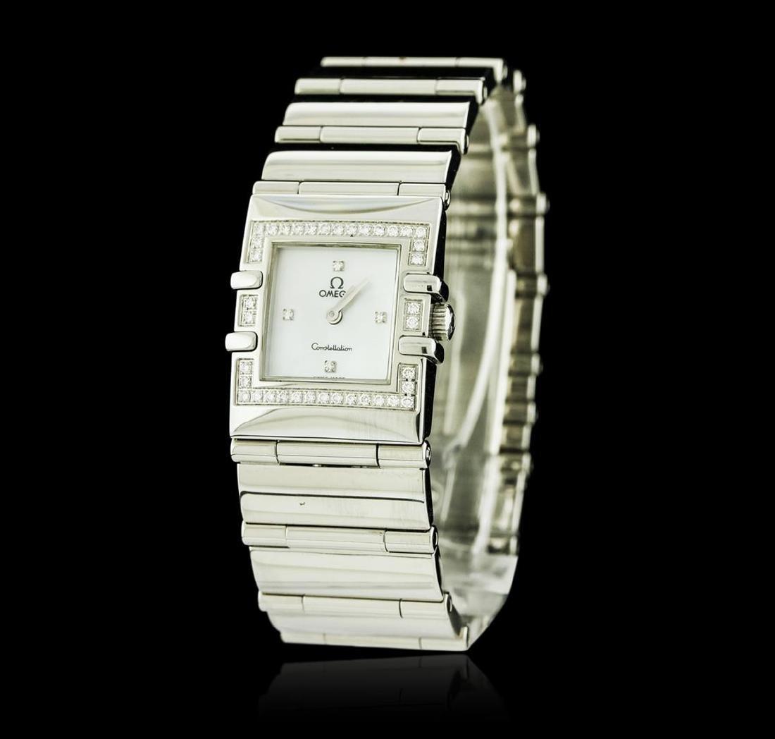 Omega Stainless Steel Diamond Constellation Watch