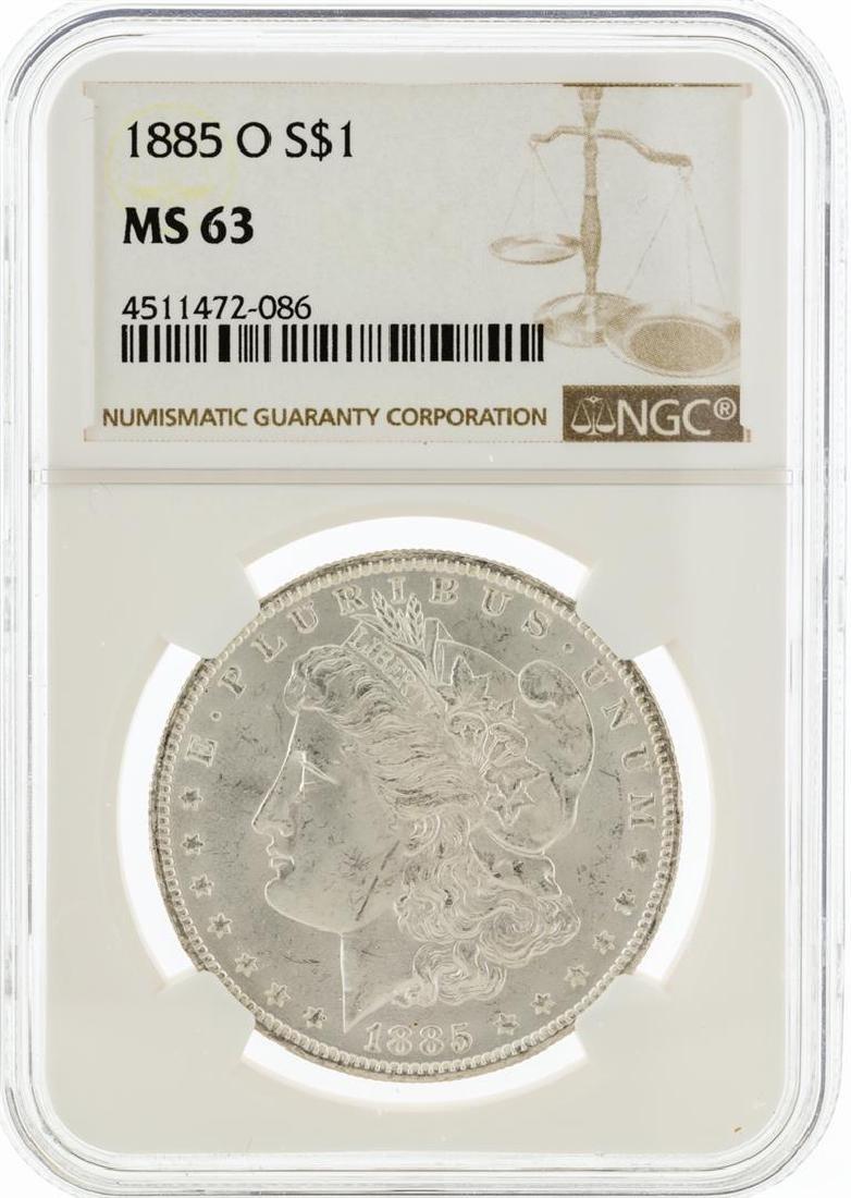 1885-O NGC MS63 Morgan Silver Dollar