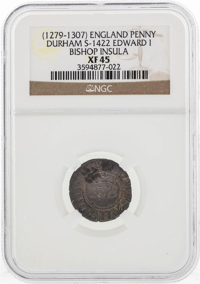 1279-1307 England Penny Durham S-1422 Edward I Bishop