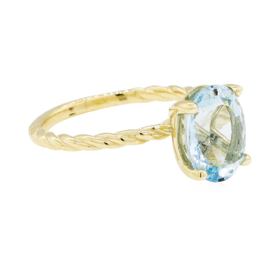 2.55 ctw Blue Topaz Ring - 14KT Yellow Gold