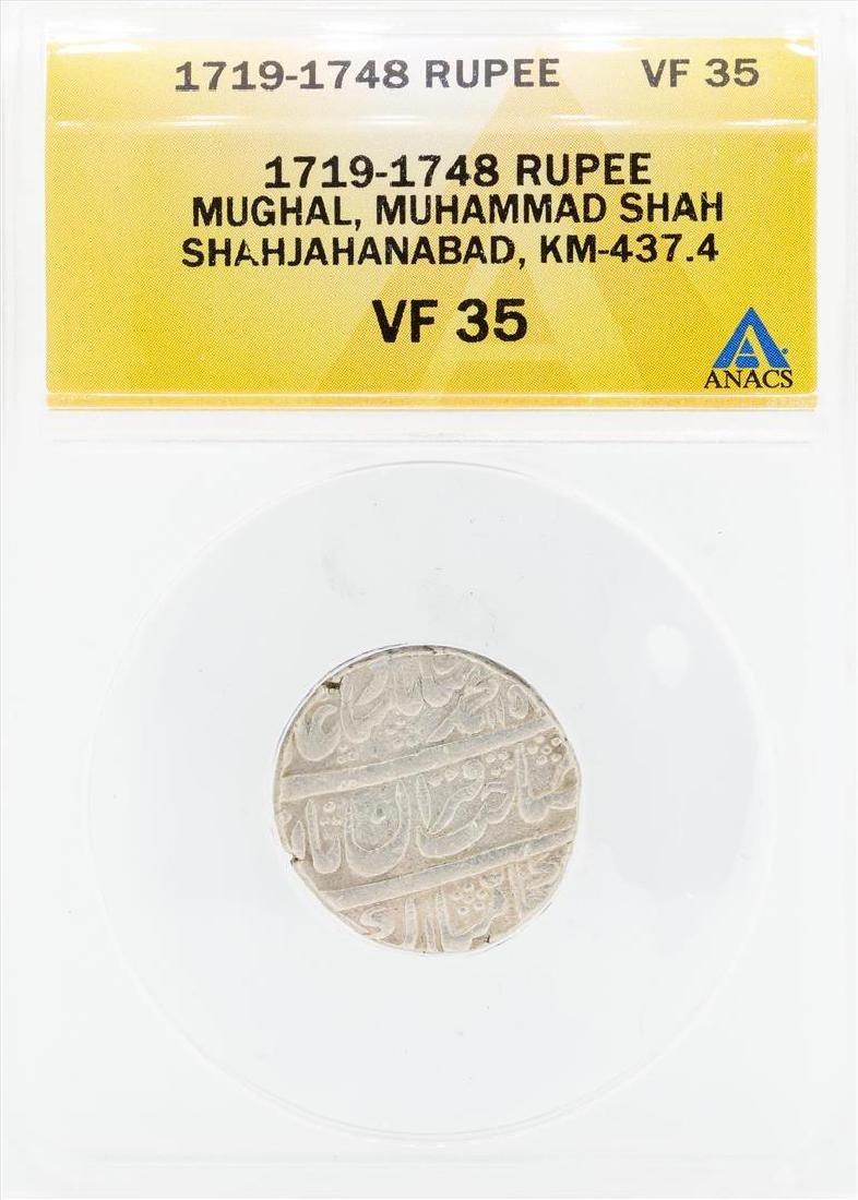 1719-1748 Rupee Mughal Muhammad Shah Shahjahanabad