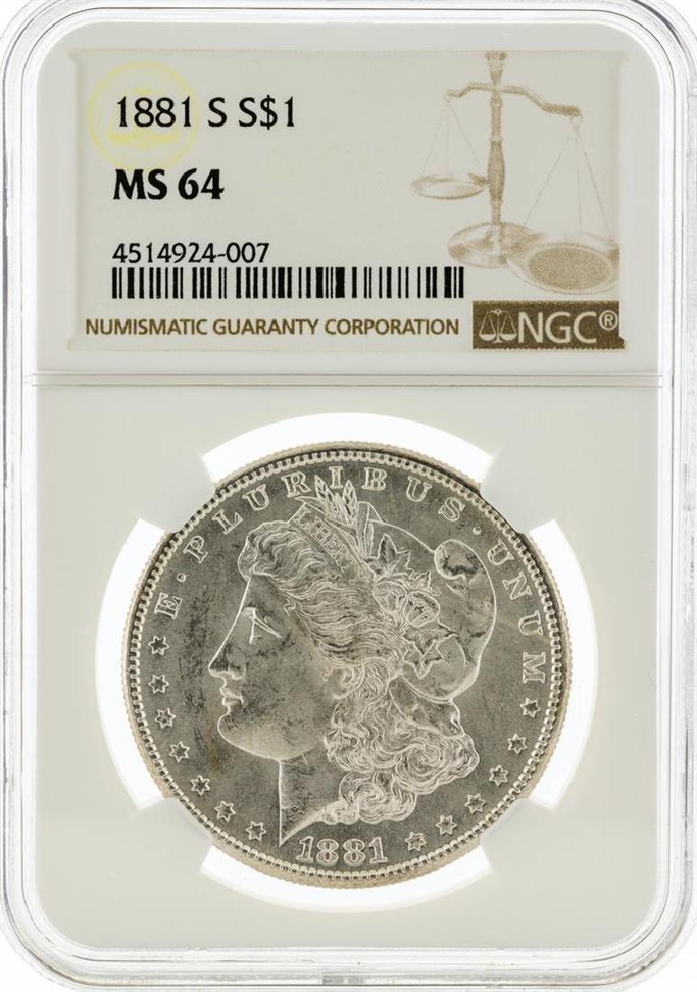 1881-S NGC MS64 Morgan Silver Dollar