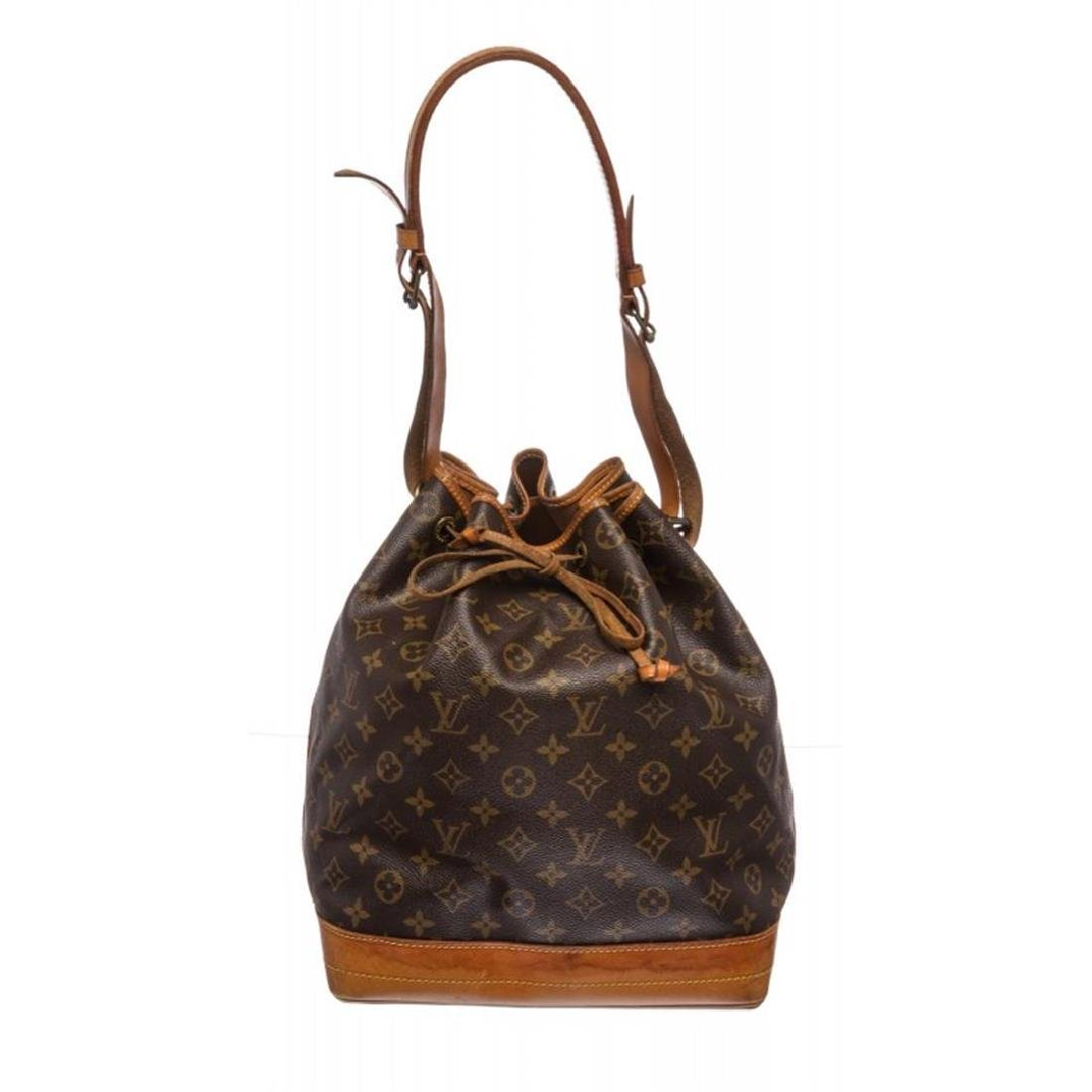 Louis Vuitton Monogram Canvas Leather Noe GM Drawstring