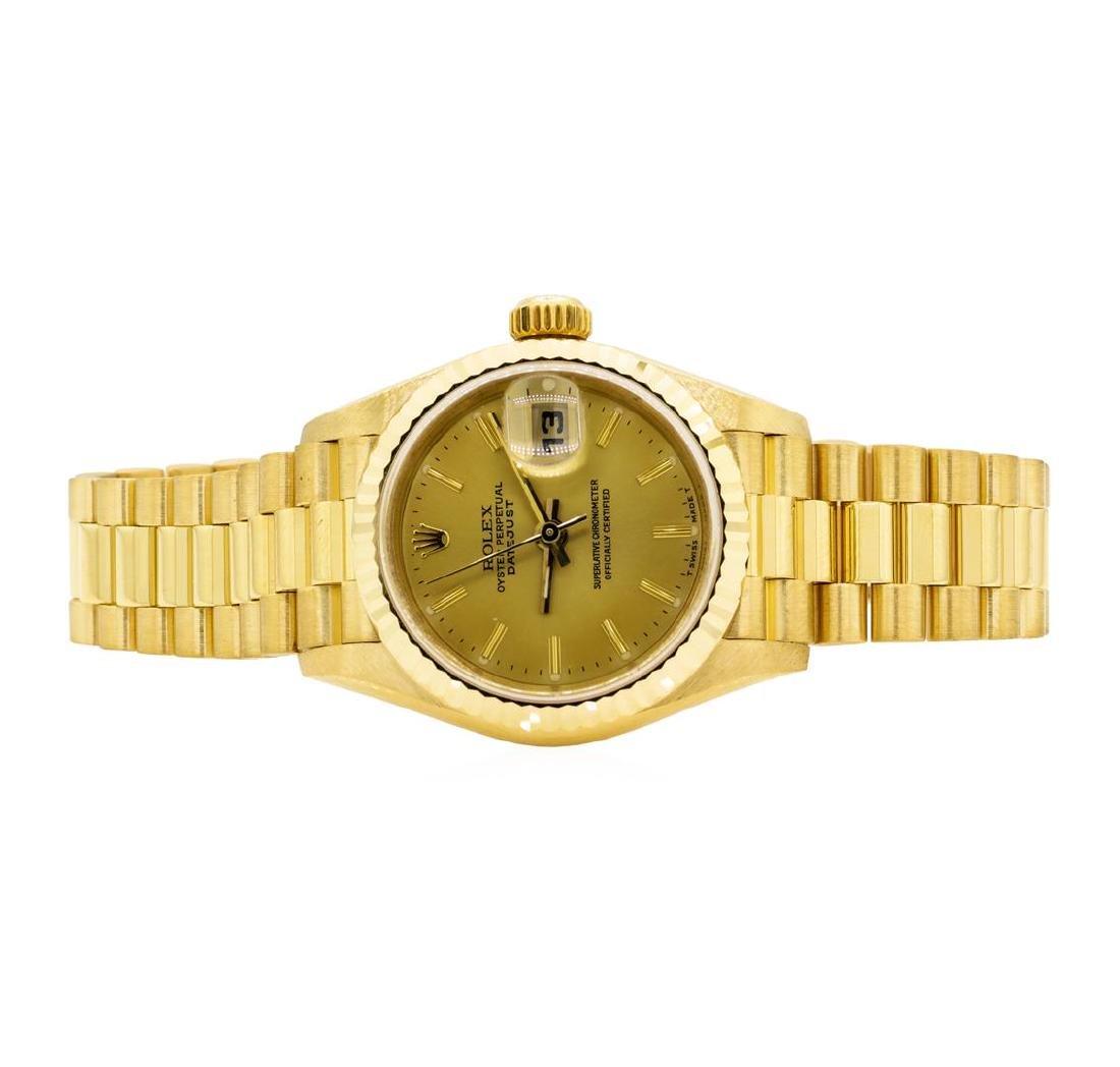 Rolex 18KT Yellow Gold Ladie's Presidential Wristwatch