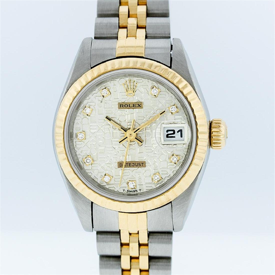 Rolex Two-Tone White Jubilee Diamond Dial DateJust