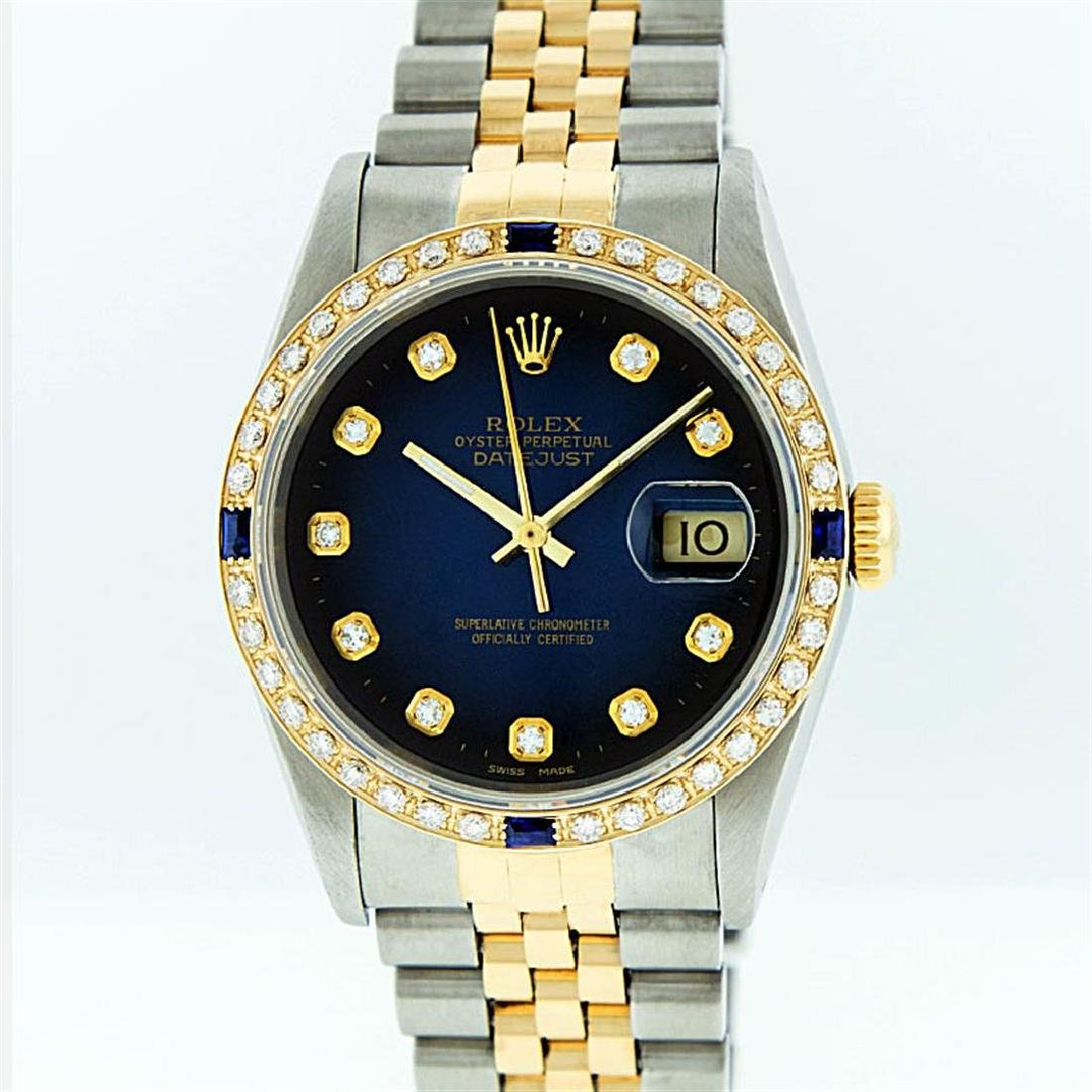 Rolex Two-Tone Diamond Blue Vignette and Sapphire