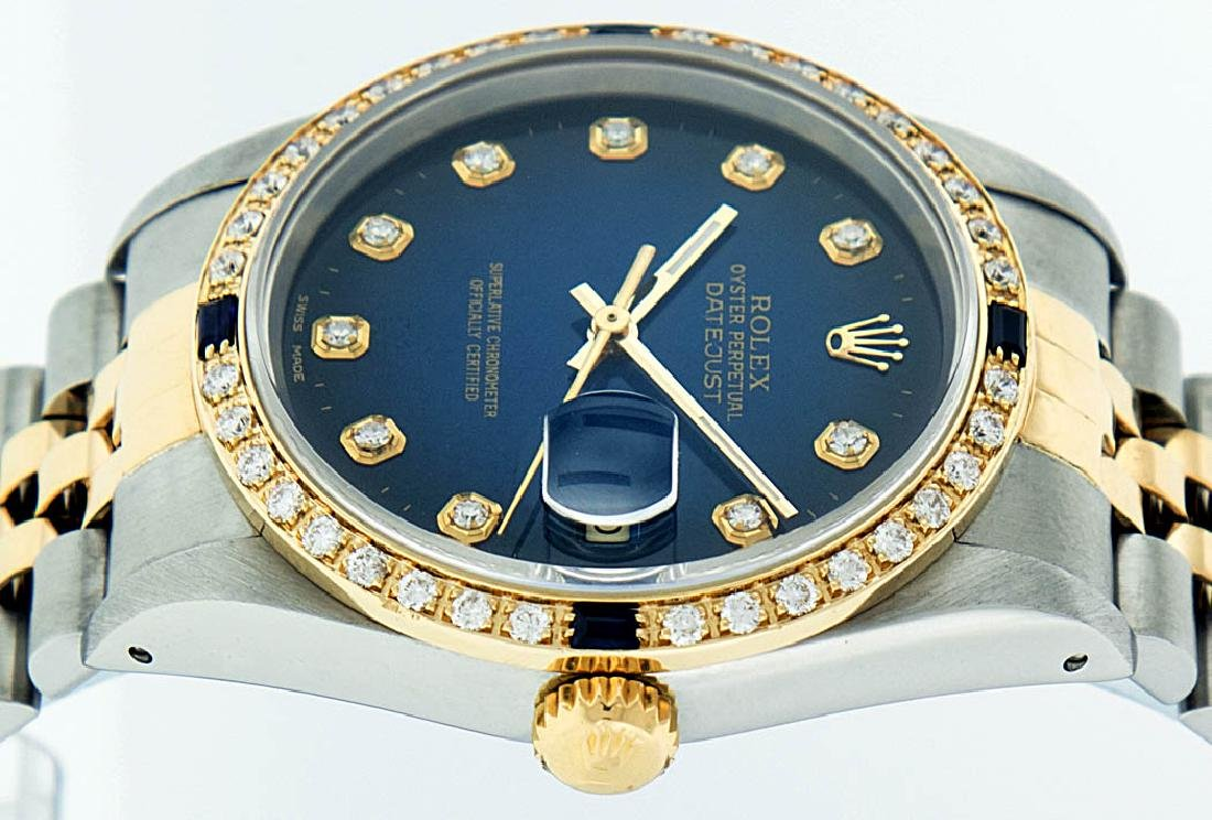 Rolex Two-Tone Diamond Blue Vignette and Sapphire - 3