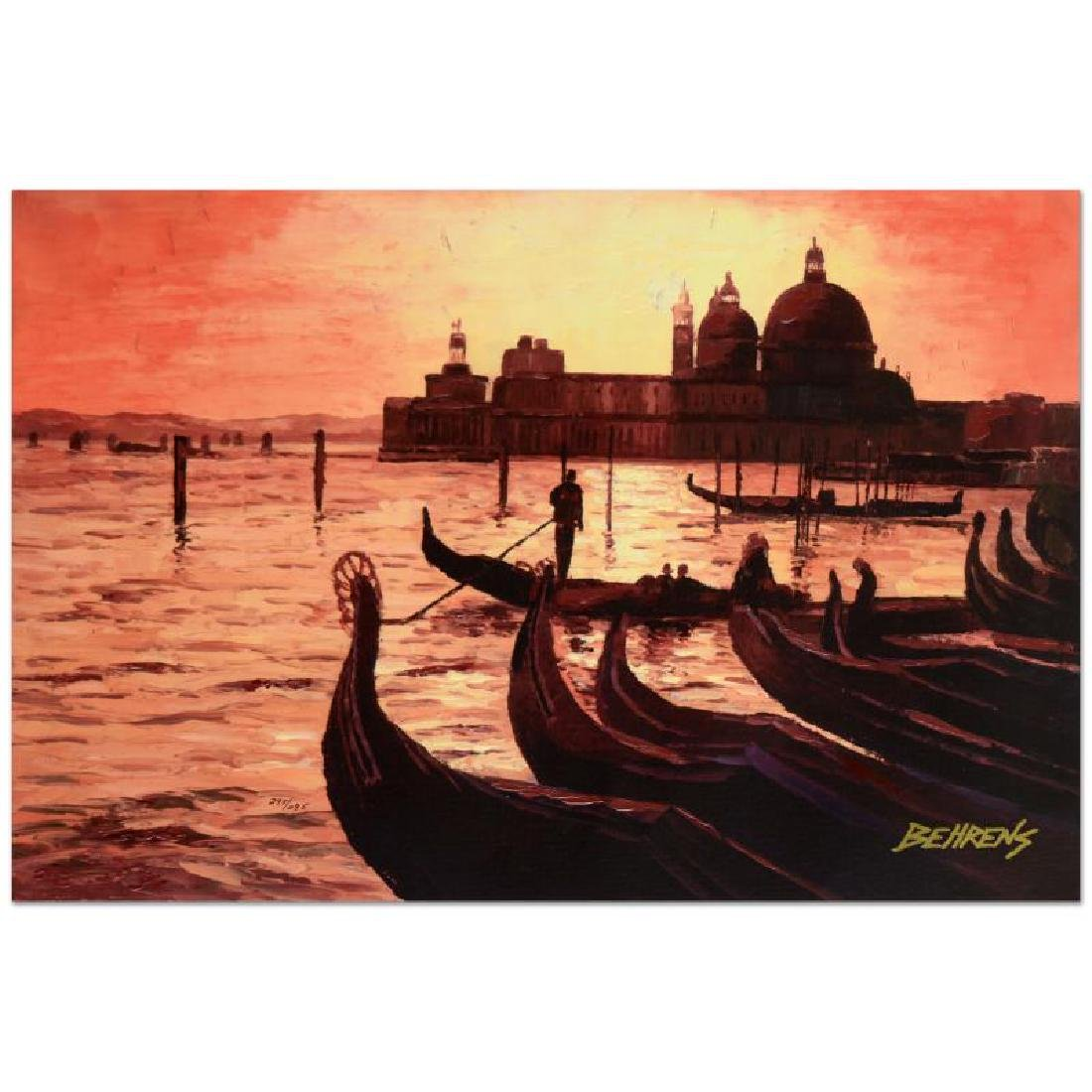 Sunset on the Grand Canal 3 by Behrens (1933-2014)