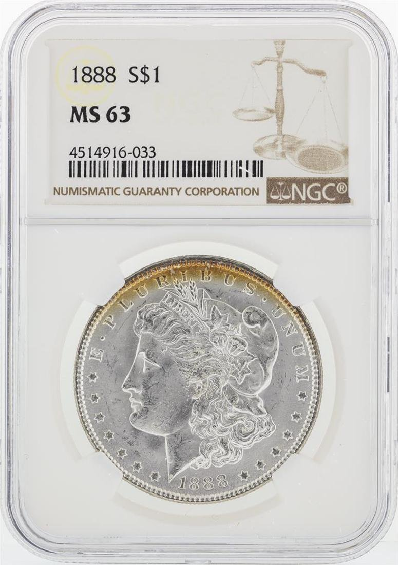 1888 NGC MS63 Morgan Silver Dollar