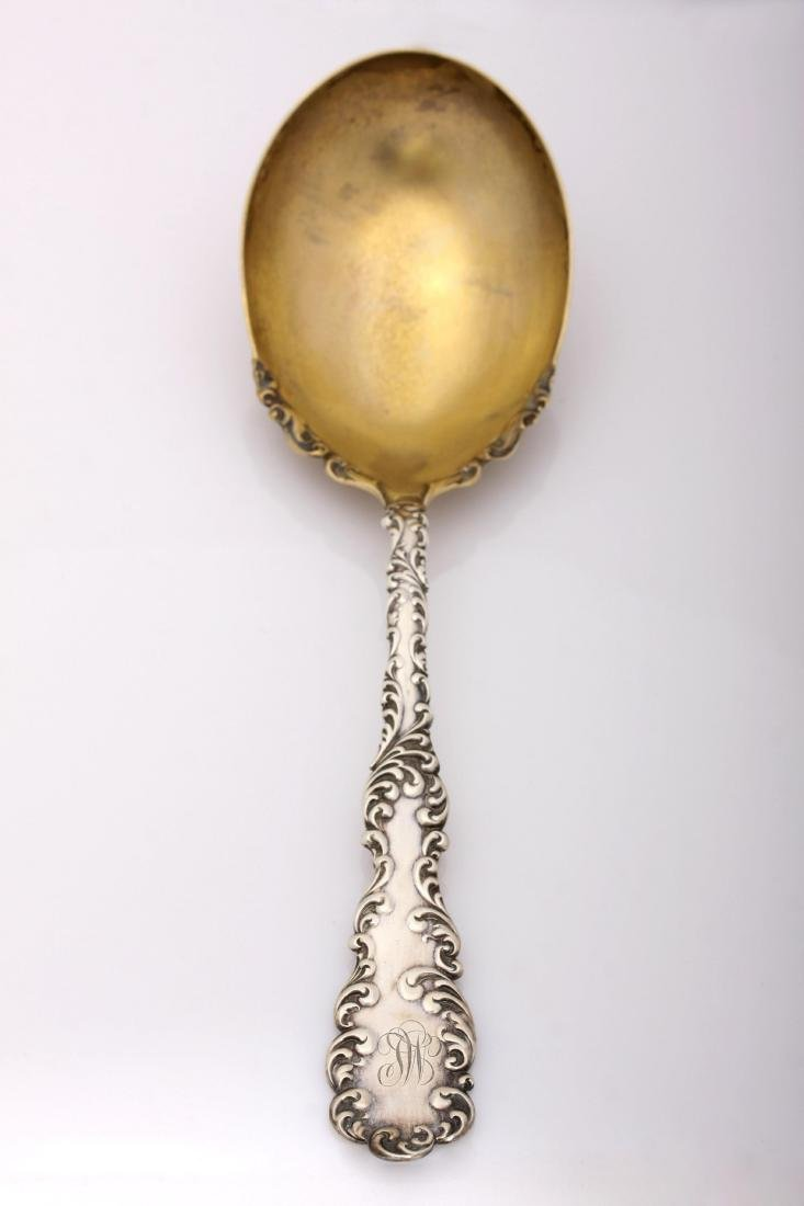 """Antique Sterling Silver """"Waverly"""" Gold Wash Spoon by - 2"""