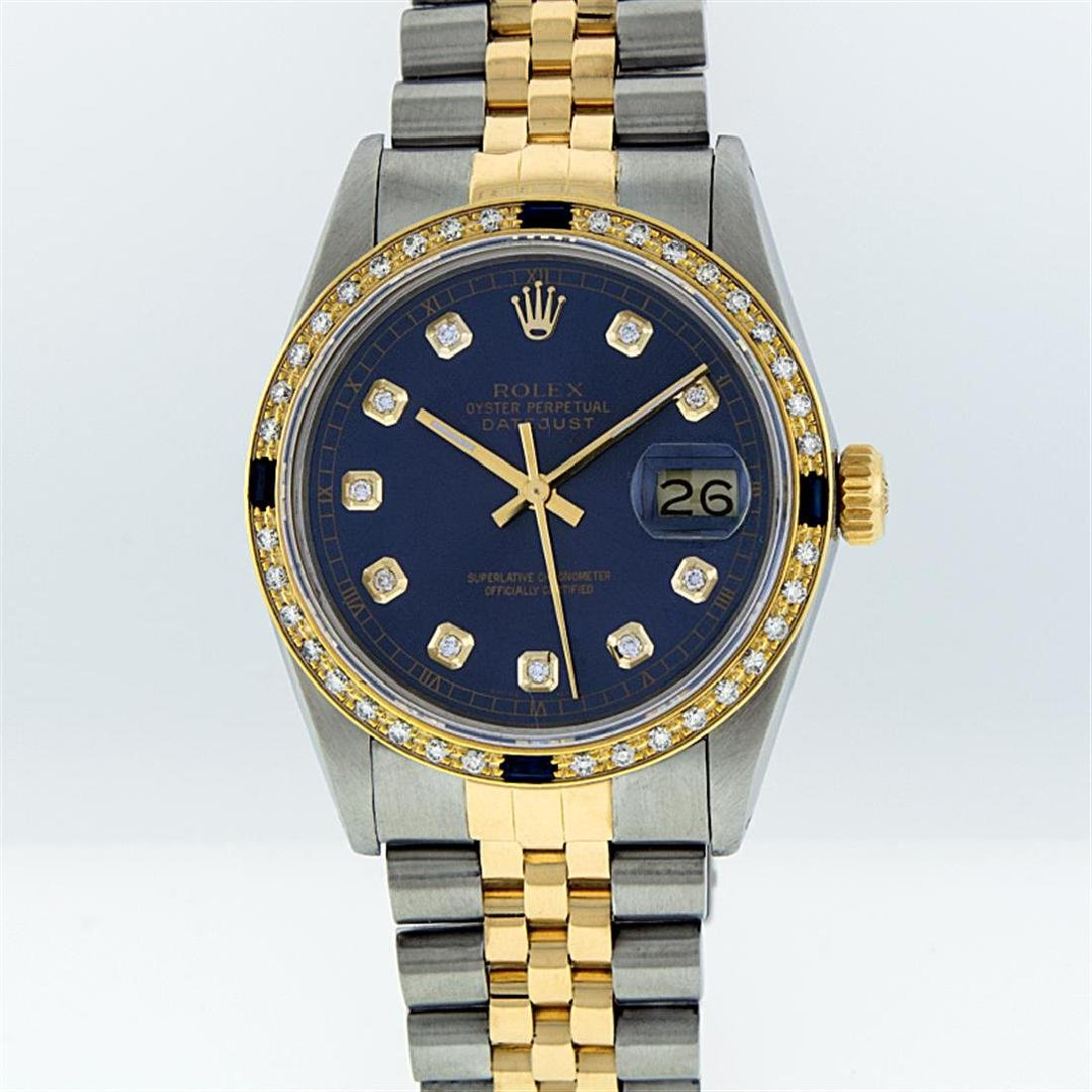 Rolex 18K Two-Tone 1.00 ctw Diamond and Sapphire