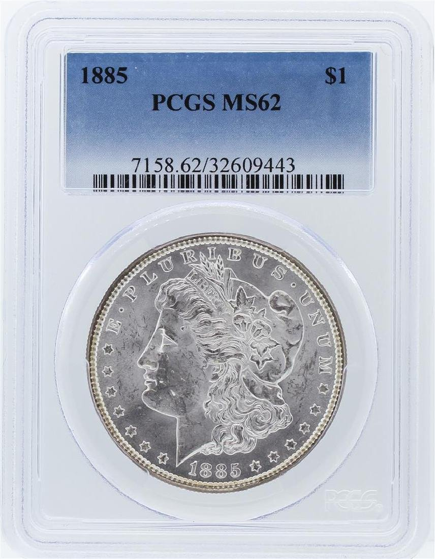 1885 PCGS MS62 Morgan Silver Dollar