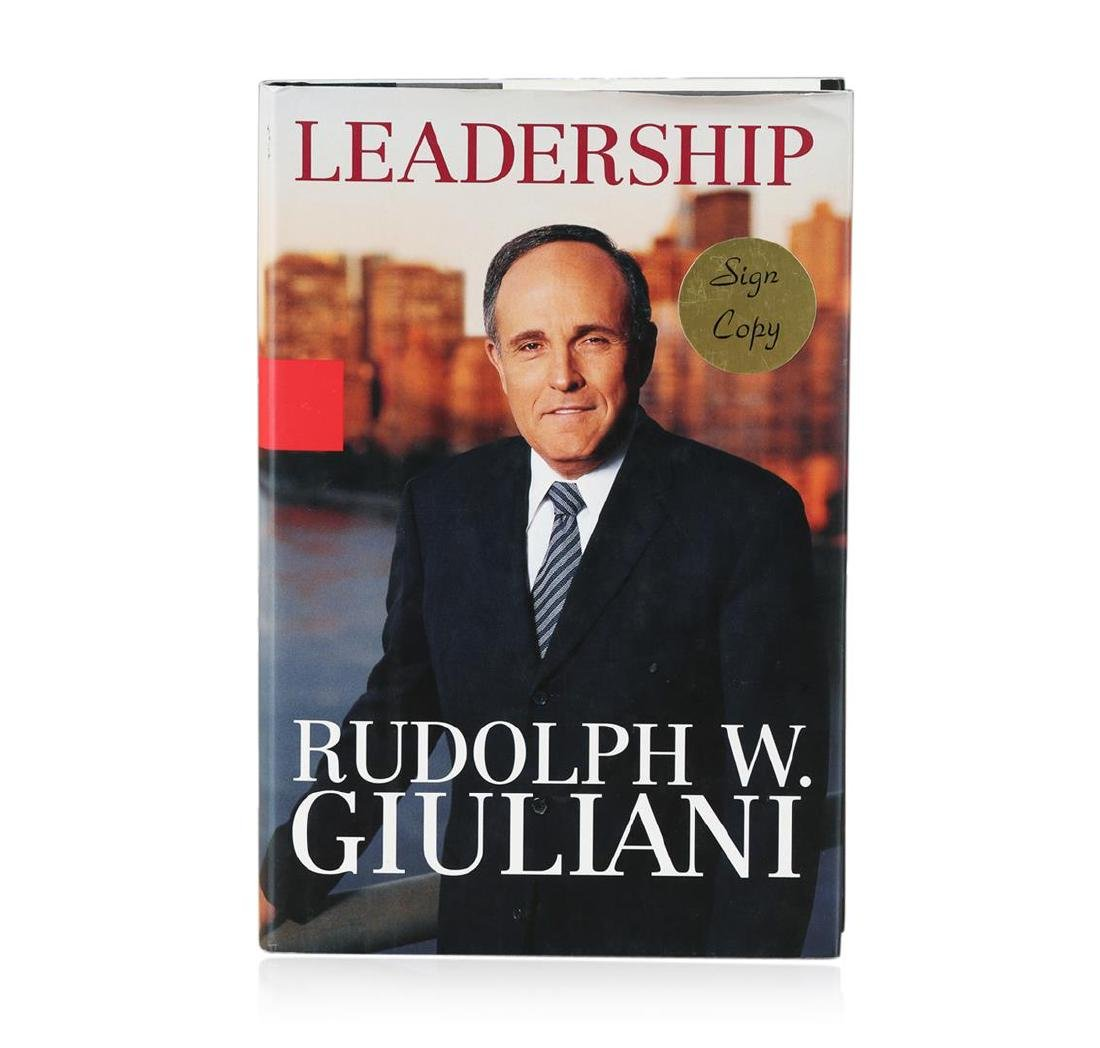 Signed Copy of Leadership by Rudolph W. Giuliani