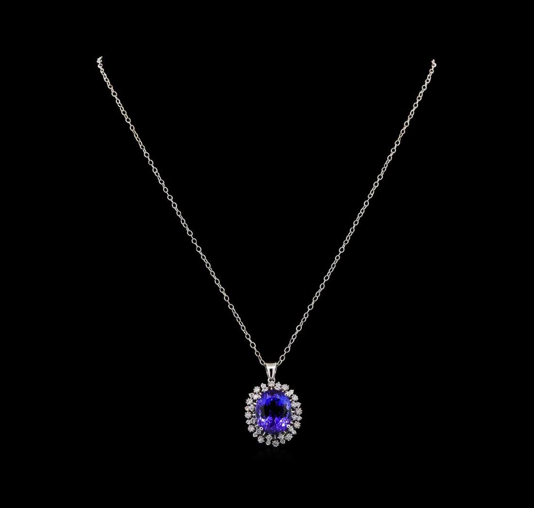 GIA Cert 15.02 ctw Tanzanite and Diamond Pendant With