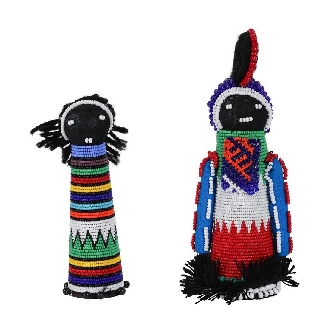 Traditional African Sangoma Ndebele Zulu Dolls -2
