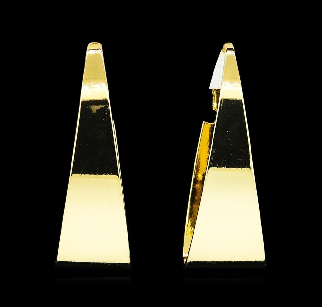 20x40mm Oval Hoop Earrings - Gold Tone