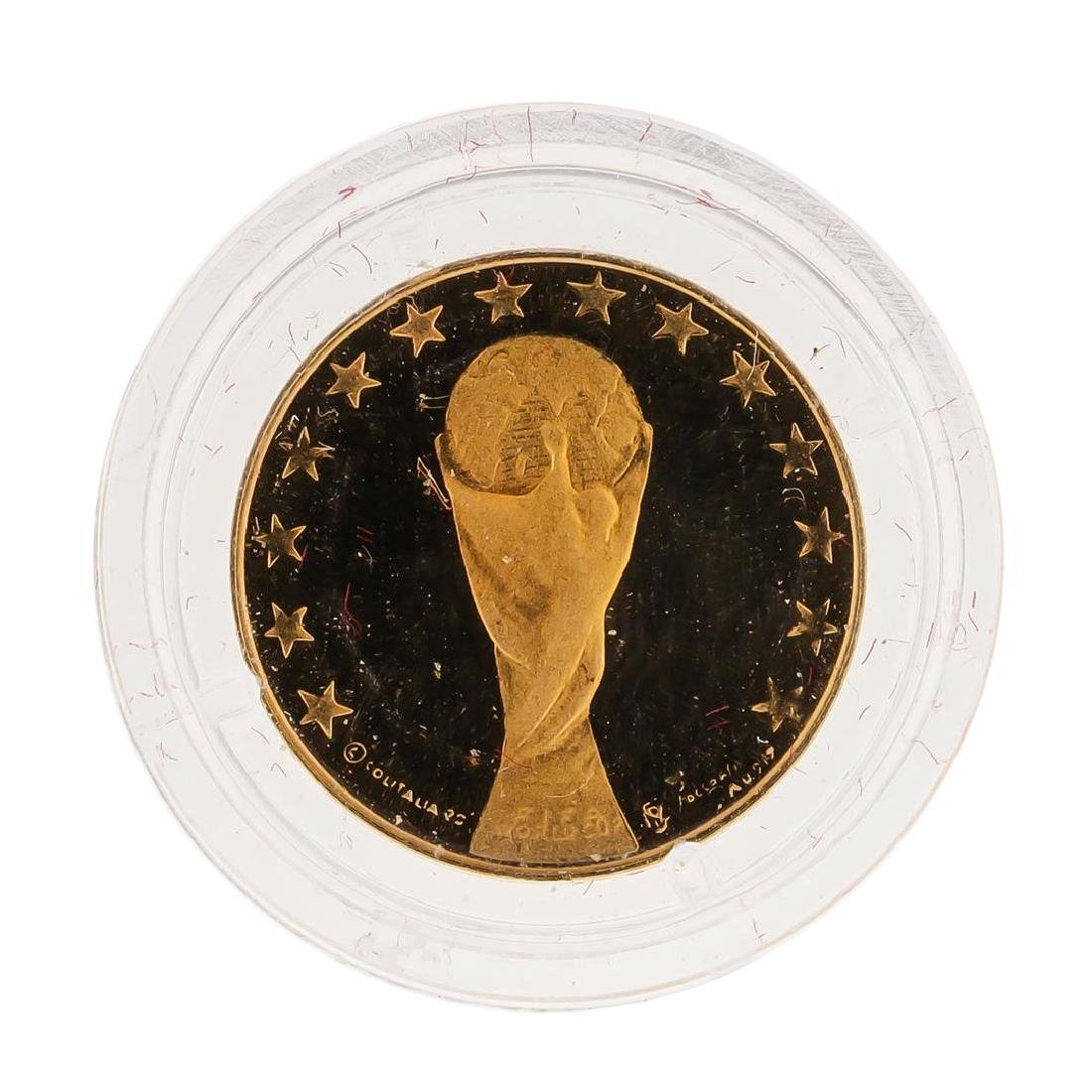 1990 Italy Football Institute Gold Coin Brand of the