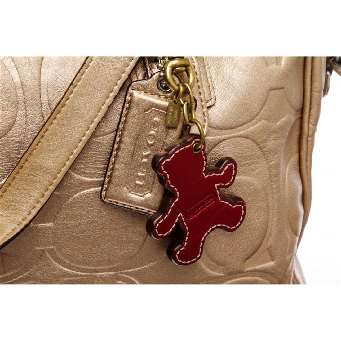 Coach Metallic Gold Monogram Leather Tote Bag - 6
