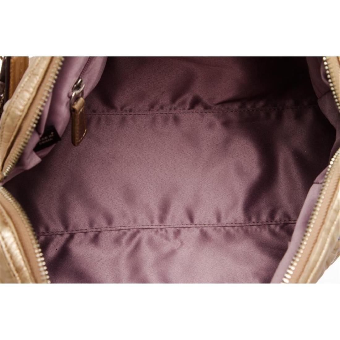 Coach Metallic Gold Monogram Leather Tote Bag - 7