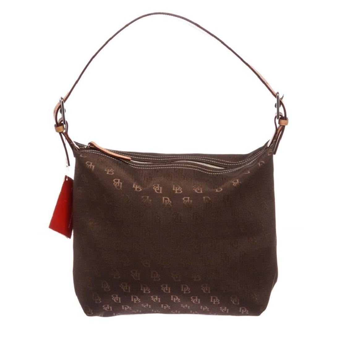 Dooney & Bourke Brown Monogram Canvas Hobo Handbag