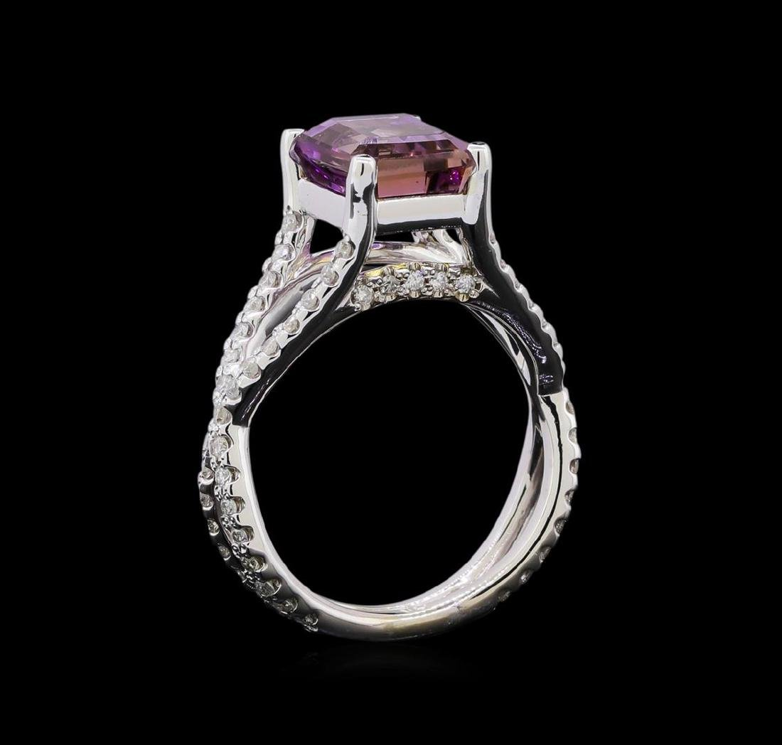 2.70 ctw Ametrine and Diamond Ring - 14KT White Gold - 4