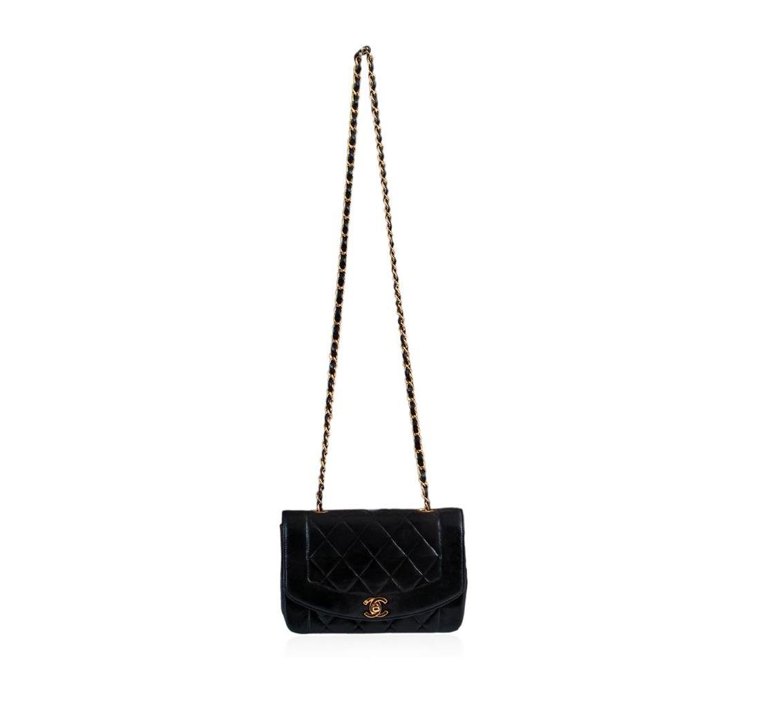 Chanel Matelasse Lamb Chain Leather Cross Body Bag