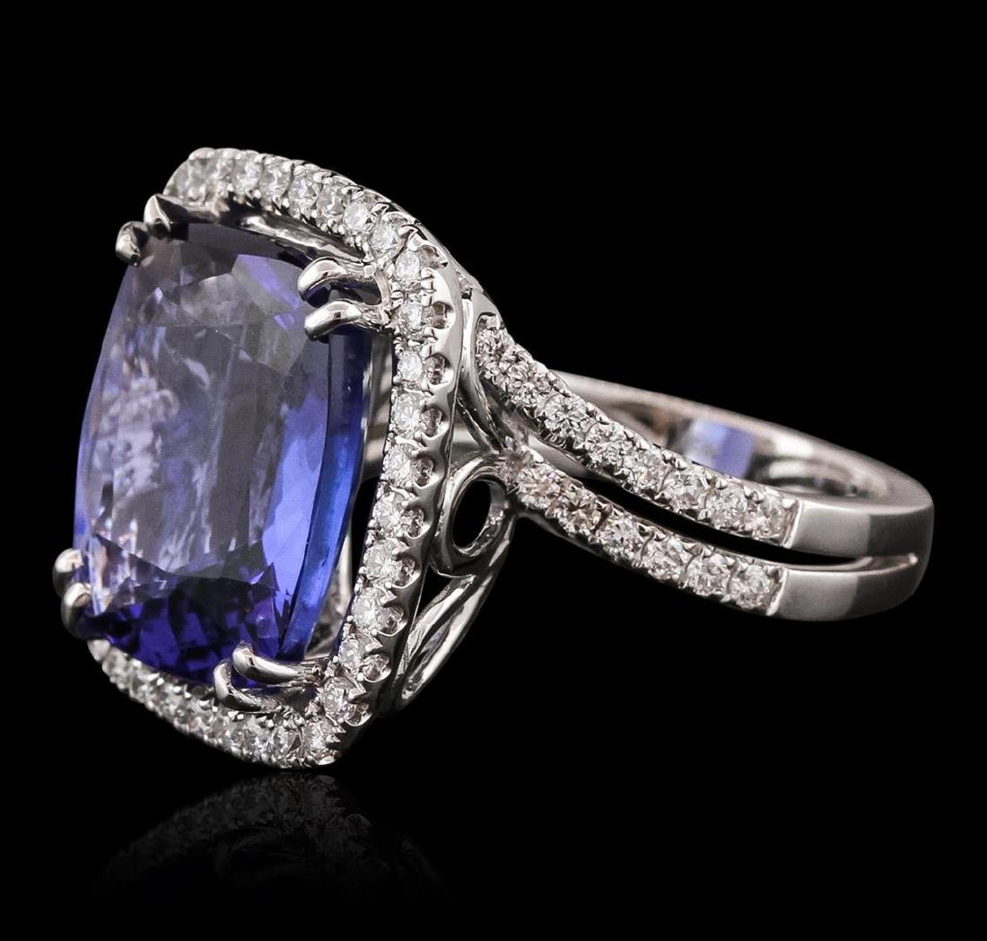 18KT White Gold GIA Certified 10.65 ctw Tanzanite and