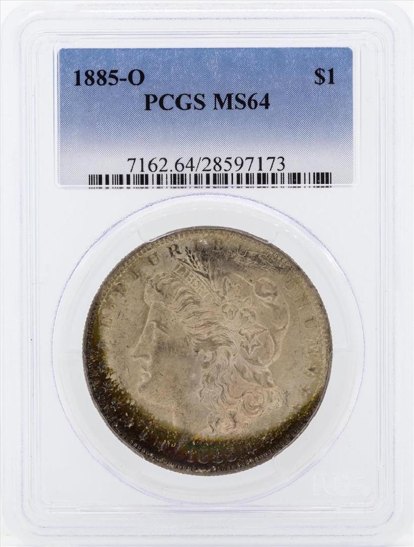 1885-O $1 Morgan Silver Dollar Coin PCGS MS64 Great