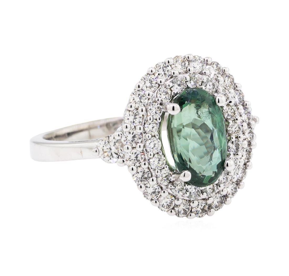 2.19 ctw Alexandrite And Diamond Ring - 14KT White Gold
