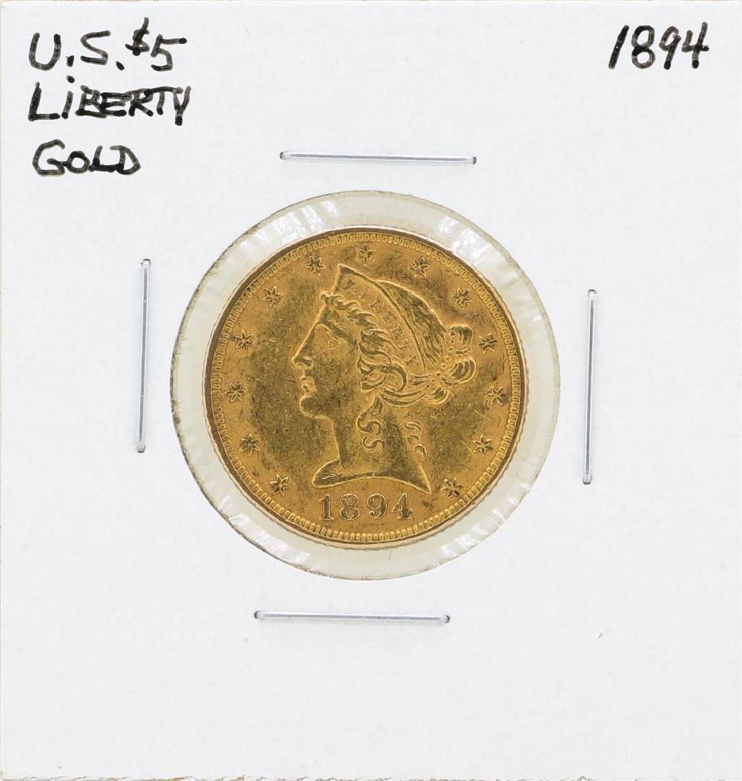1894 $5 Liberty Head Half Eagle Gold Coin