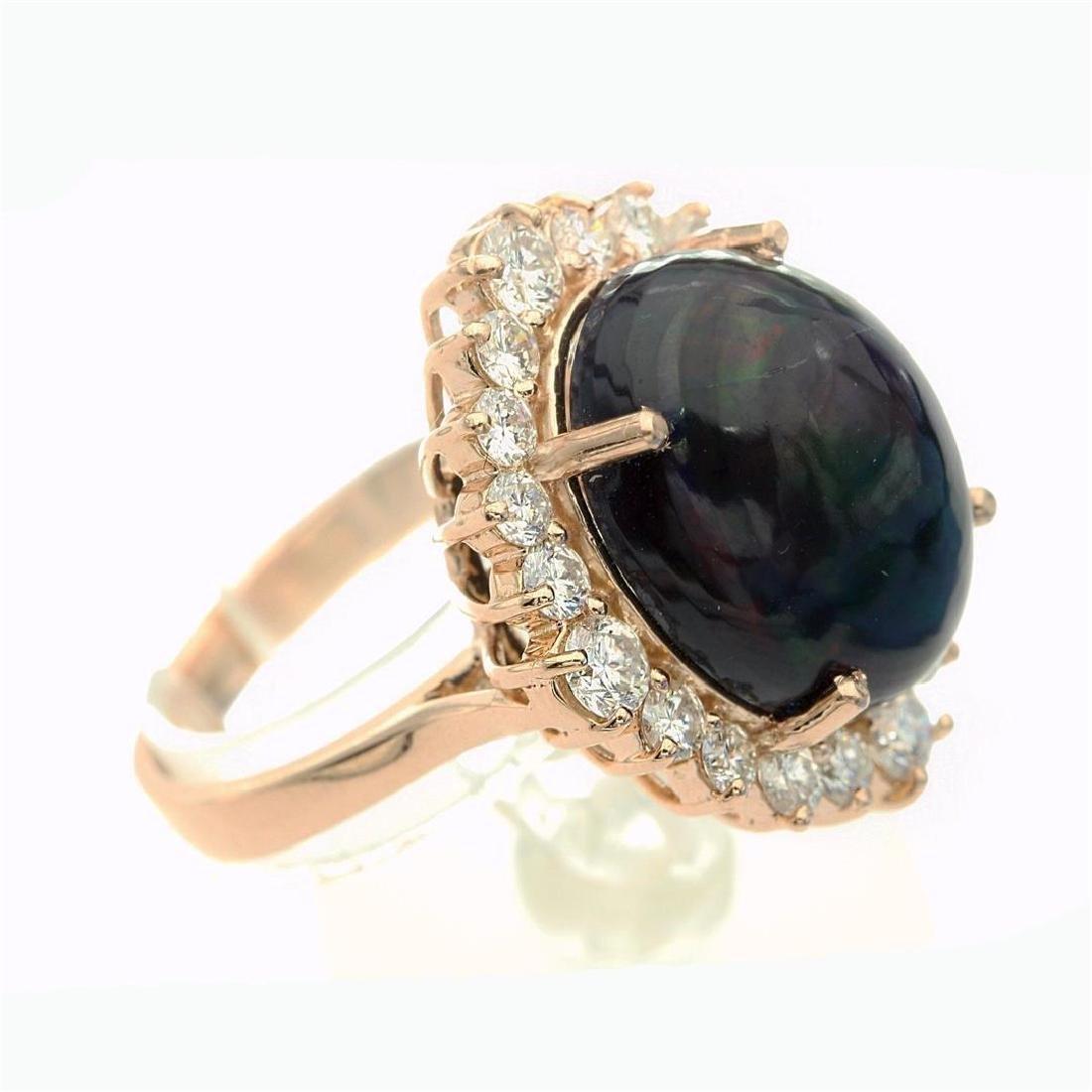 7.46 Carat Natural Diamonds & Opal Anniversary Ring in