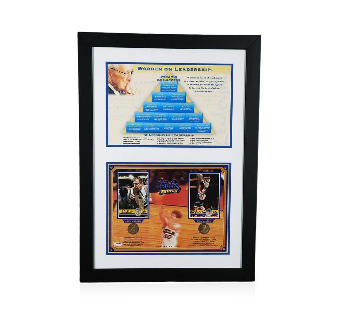 PSA Certified John Wooden and Bill Walton Pyramid of
