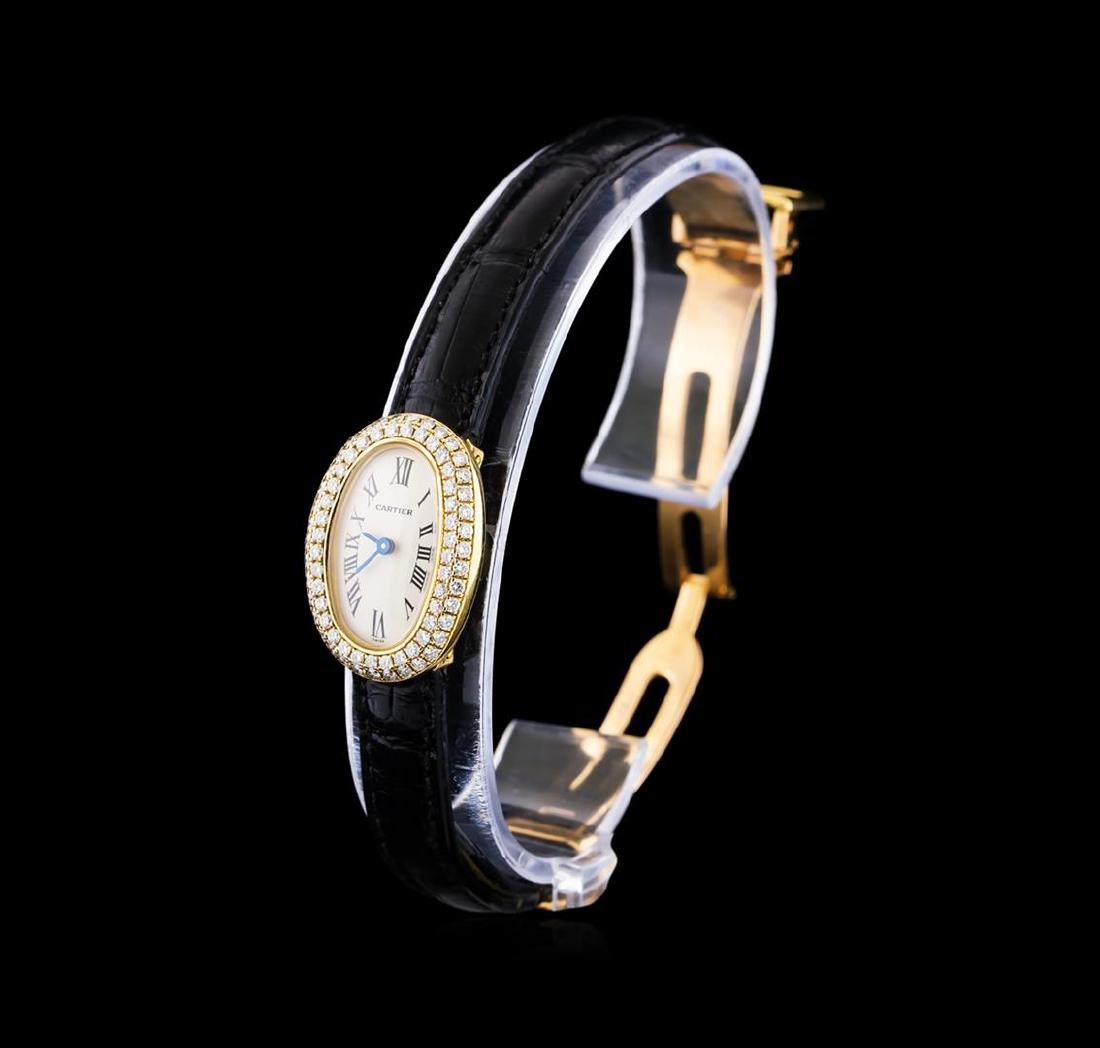 Cartier Baignoir Mini 18KT Yellow Gold Ladies Watch - 2