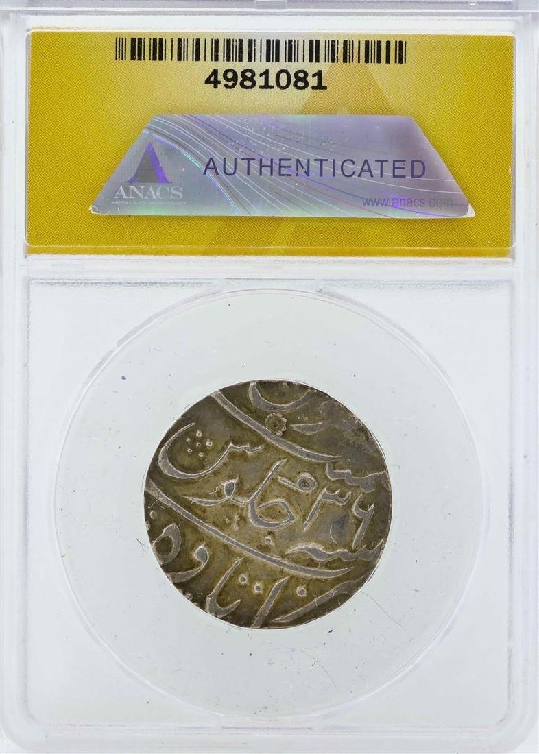 c.1698 India Rupee Mughal Coin ANACS EF45 - 2