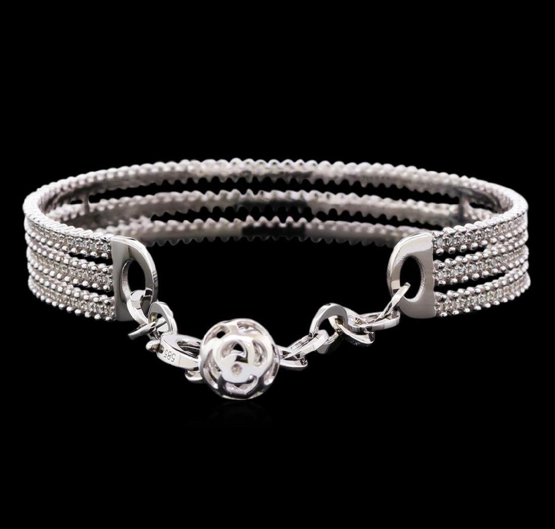 1.27 ctw Diamond Bracelet - 14KT White Gold - 2
